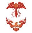 phoenix emblems vector image vector image
