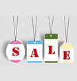 sale tags labels vector image