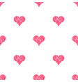 seamless pattern for scrapbooking with hearts vector image vector image