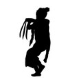 simple silhouette young girl traditional bali vector image vector image