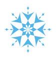 snowflake ornate vector image vector image