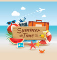 summer time background banner design template and vector image vector image
