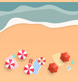 summer tropical beach top view banner background vector image