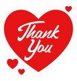 thank you calligraphy vector image vector image