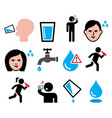 thirsty man dry mouth thirst people drinking vector image vector image