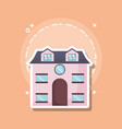 traditional house icon vector image vector image
