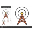Transmitter line icon vector image