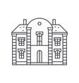 villa castle thin line icon concept villa castle vector image vector image