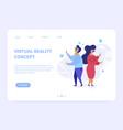 Virtual reality landing page concept
