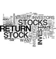 why invest in stocks text word cloud concept vector image vector image