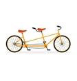 Tandem Bike Flat vector image