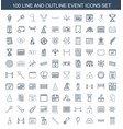 100 event icons vector image vector image