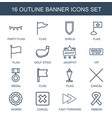 16 banner icons vector image vector image