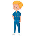 a male medical assistant vector image