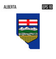 alberta map border with flag eps10 vector image vector image