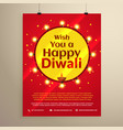 amazing diwali festival flyer template vector image vector image