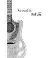 background acoustic guitar hand drawing vector image
