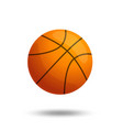 basketball ball over white background isolated vector image