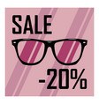 beautiful glasses on the background of purple vector image vector image