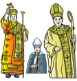 Bishop set vector image vector image