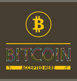 bitcoin accepted here vector image
