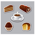 cake stickers vector image