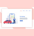 car sharing service website template vector image