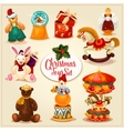 Christmas toy and gift box set for xmas design vector image
