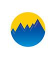 circle rocky mountain logo vector image