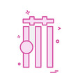 cricket icon design vector image