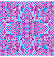 ethnic seamless mosaic pattern vector image vector image