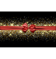 Festive banner with bow vector image
