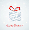 Festive card with gift box Shine vector image vector image