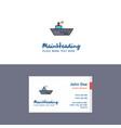 flat ship logo and visiting card template vector image vector image