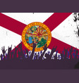 florida state flag with audience vector image vector image