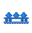 freight train line icon vector image vector image