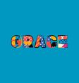 grace concept word art vector image