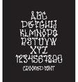Graffiti bold font vector image