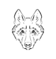 Grungy black and white wolf vector image