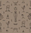 hand-drawn halloween grey seamless pattern with vector image