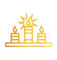happy diwali india festival celebration candles vector image vector image