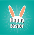 happy easter day typography background stylish vector image vector image