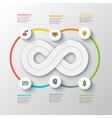 infinity element for infographic vector image