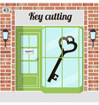 key cutting key cutting service locksmith vector image vector image