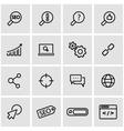 line seo icon set vector image vector image