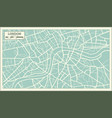 London map in retro style