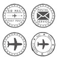 Mail stamps for envelopes