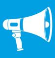 megaphone icon white vector image vector image
