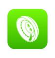 men clothes button icon green vector image vector image