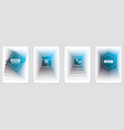 minimal flyers booklets annual reports cover vector image vector image